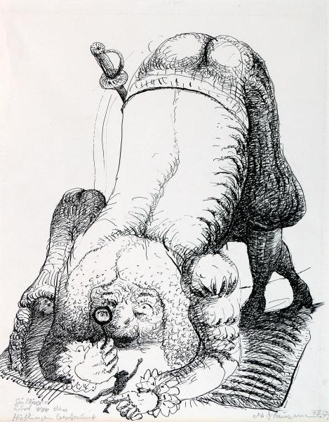Gulliver wird von den Höflingen bestaunt