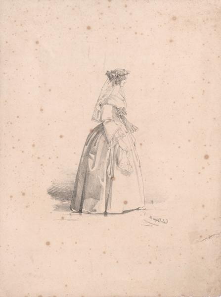 Junge Frau mit Schleier