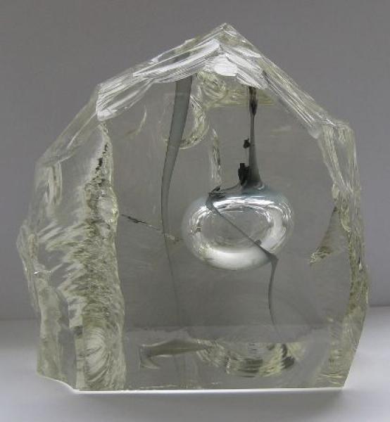 Glasblock mit Blase