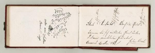 Stammbuch Carl Haussknecht mit Wünschen von Wegbegleitern der Orient-Reisen 1865-1869