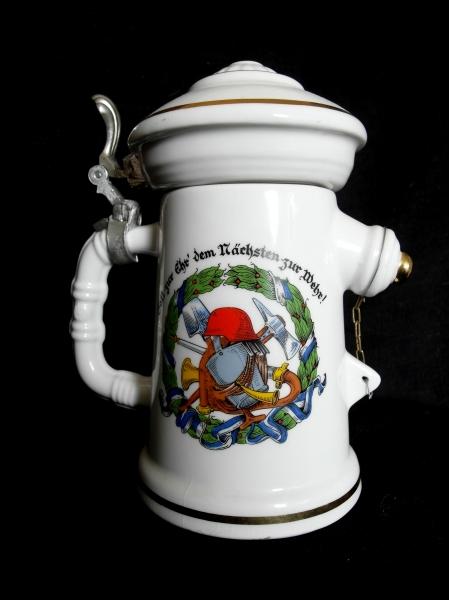 Bierkrug 125 Jahre Feuerwehr Camburg