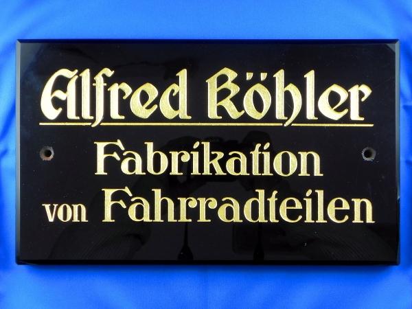 Firmenschild Alfred Köhler