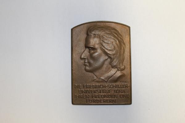 Ehrenmedaille der FSU Jena, Profil von F. Schiller