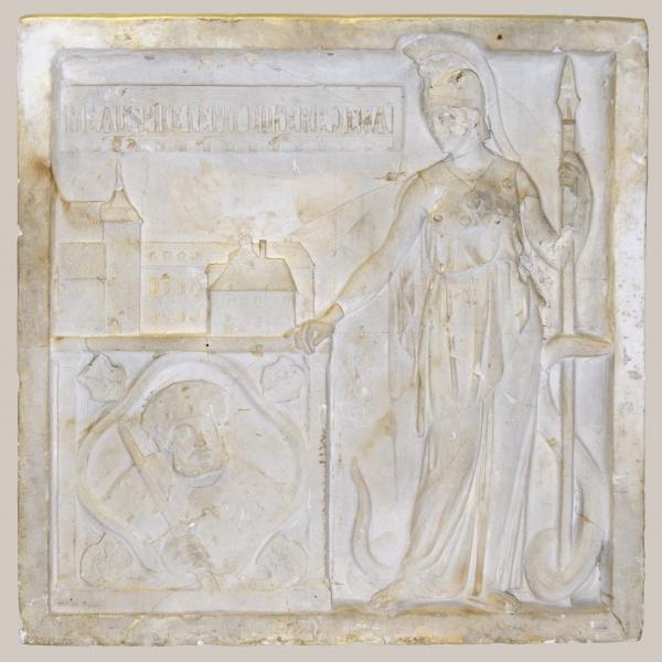2018/50_Minerva übergibt Johann Friedrich I. von Sachsen das Universitätshauptgebäude