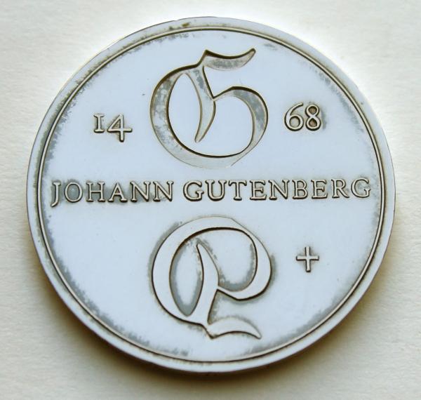 Me 329_10-Mark-Stück zum 500. Todestag von Johannes Gutenberg