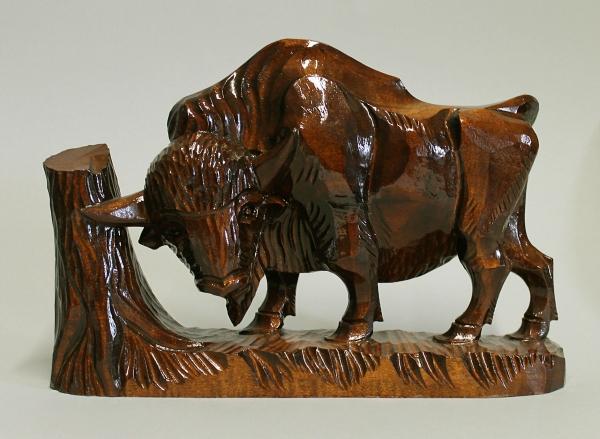 Holzfigur Büffel