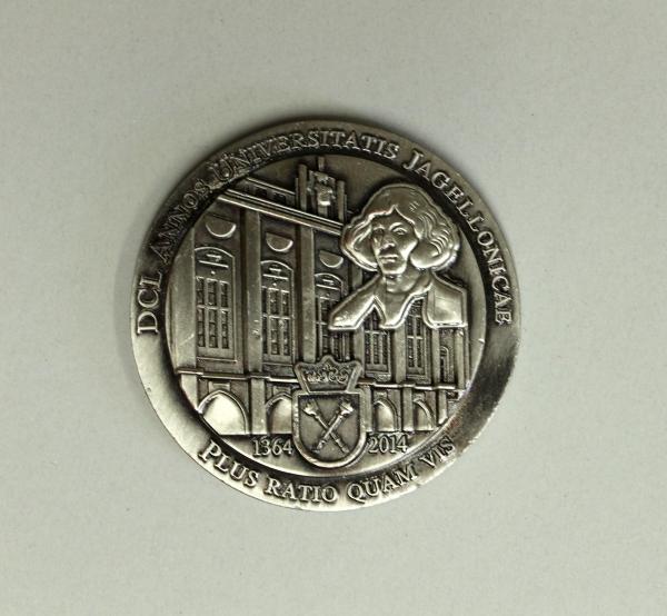 Münze zum 650. Jubiläum der Jagiellonian University Kraków