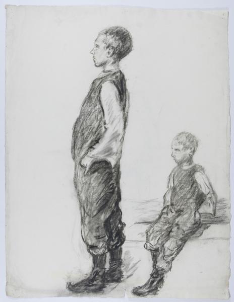 Skizze zweier Jungen