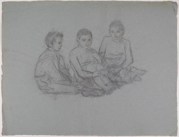 Skizzen dreier Jungen