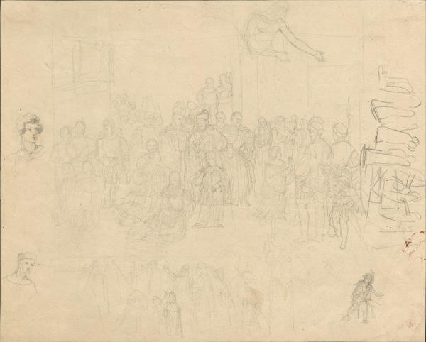 Skizzen mit Kirschenvertretern