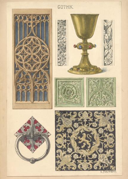 Gothische Ornamentik und Kelch