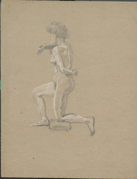 Weiblicher Akt (Zeichenzirkel von Erich Kuithan)