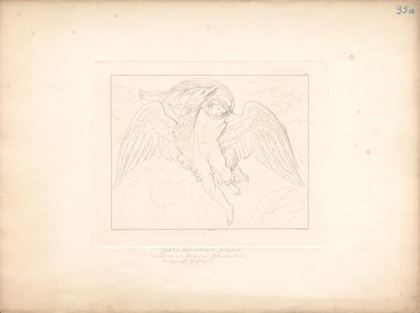 Zeus als Adler entführt Ganymed