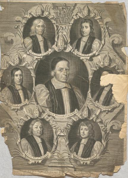 Sieben Bischöfe der Church of England (Asaph, Ely, Chichester, Canterbury, Bath & Wells, Peterborow, Bristol)