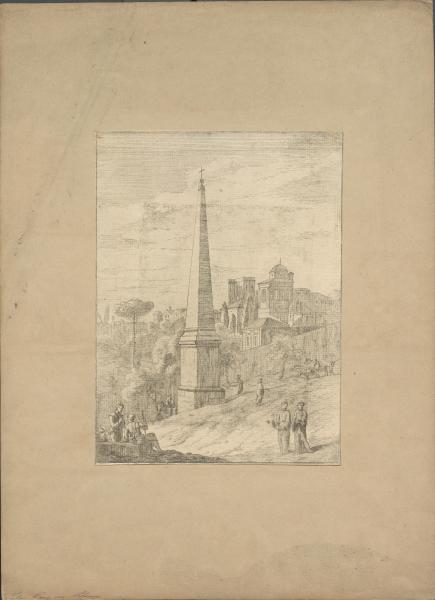 Obelisk in italienischer Landschaft