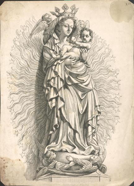 Strahlenkranzmadonna in der Sebalduskirche Nürnberg