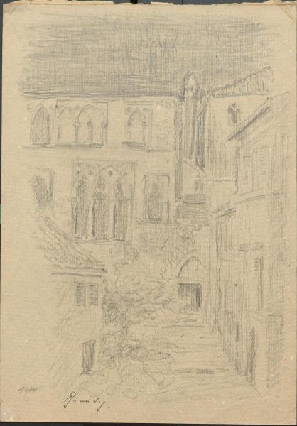 Skizze der Abtheilung des unvollendeten gothischen Palastes