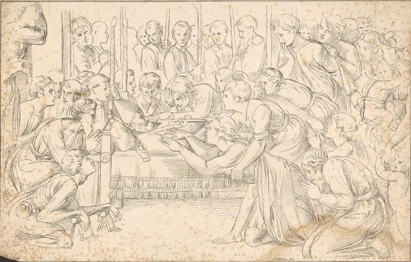 Bischof auf dem Sterbebett