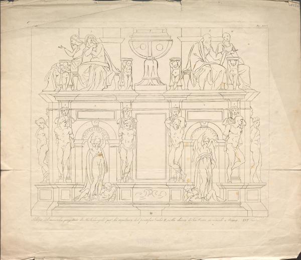Entwurf für das Wandgrab Julius II