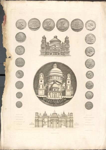 Münzen/Stiche/Fresken von St. Peter