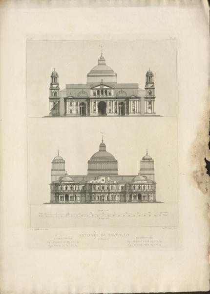 Architekturzeichnungen nach Anonio de Sangallo