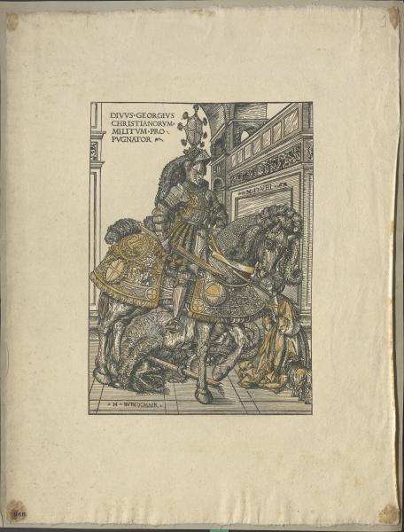 Der heilige Georg (nach Burgkmair)