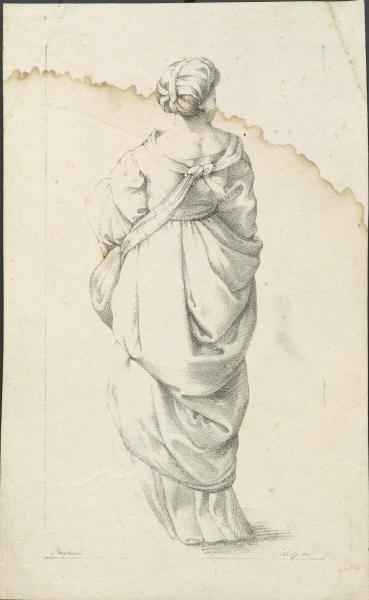 Lithografie einer Zeichnung Raffales