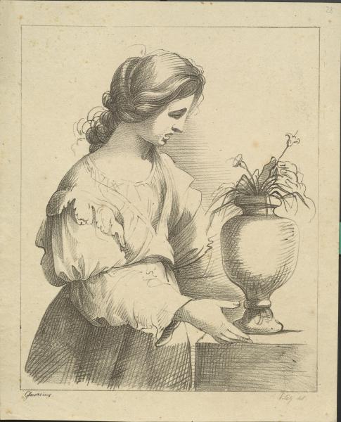 Frau mit Vase