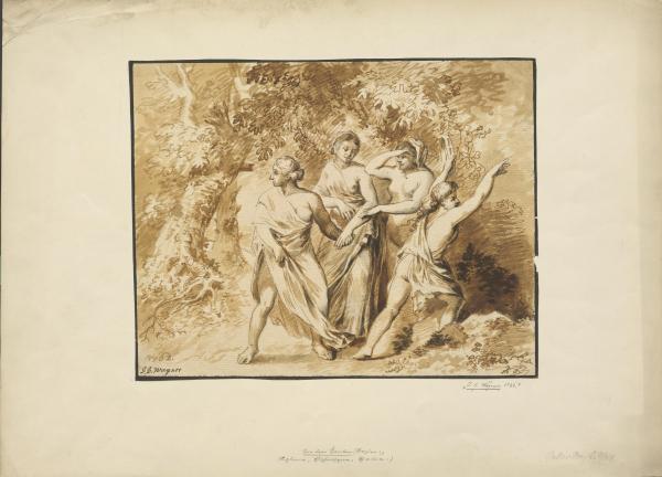 Vier Frauen in der Natur