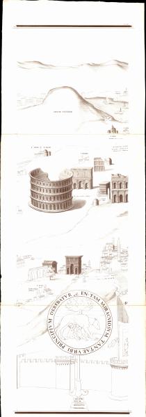 Siebenteilige Karte von Rom - Tav. VIII