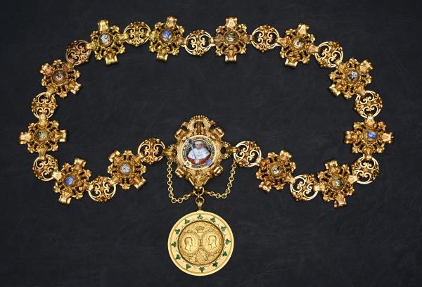 Goldene Amtskette des Rektors von 1858 (Original)