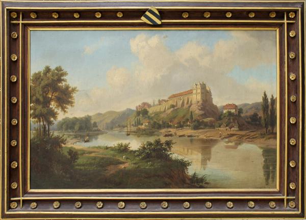 Saalelandschaft mit Schloss Wettin