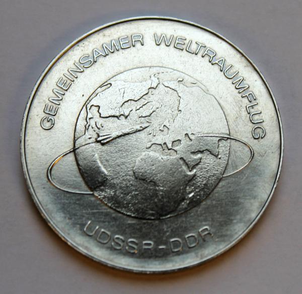 10-Mark-Stück anlässlich des gemeinsamen Weltraumfluges UdSSR - DDR