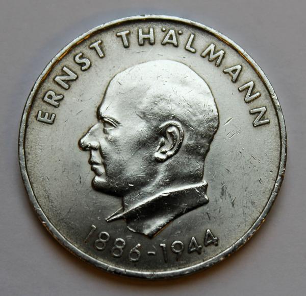 20-Mark-Stück zu Ehren Ernst Thälmanns