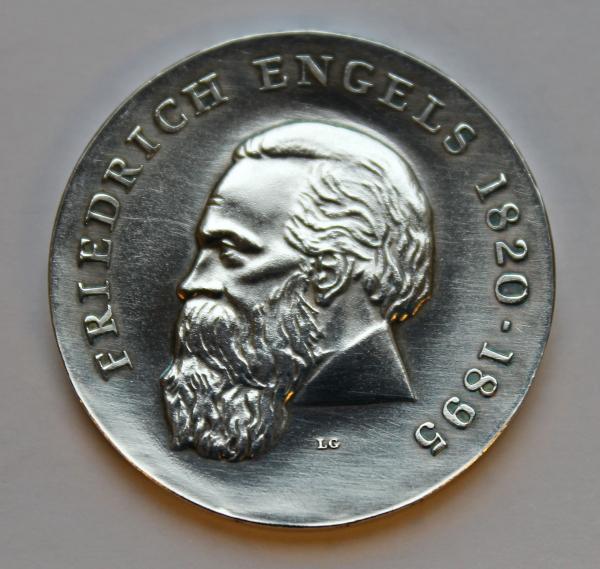 20-Mark-Stück zum 150. Geburtstag von Friedrich Engels