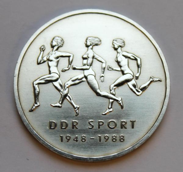 10-Mark-Stück 40 Jahre DDR-Sportbund
