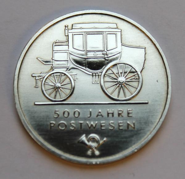 5-Mark-Stück auf 500 Jahre Postwesen