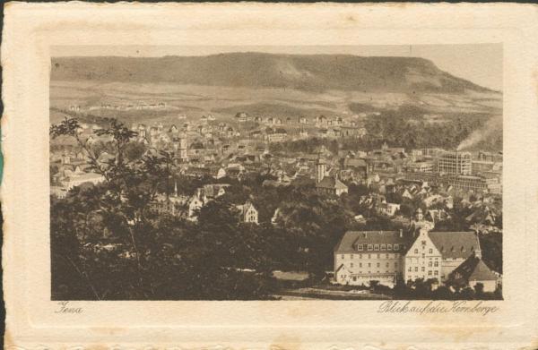 Jena - Blick auf die Kernberge