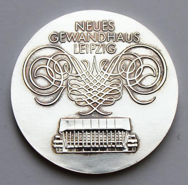 10-Mark-Stück anlässlich der Eröffnung des neuen Gewandhauses in Leipzig