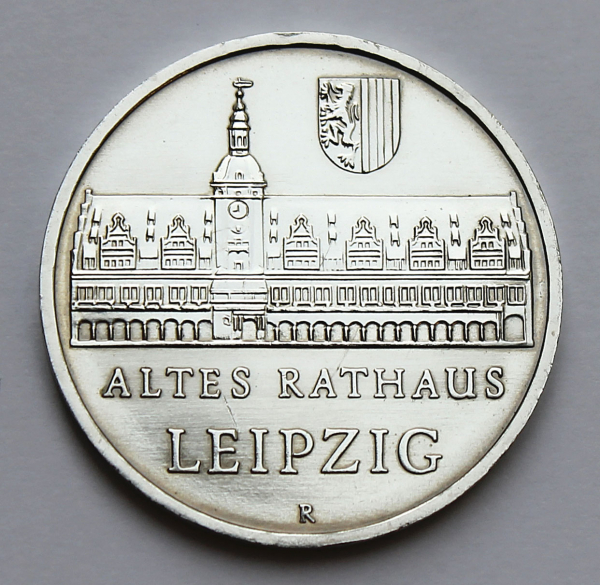 5-Mark-Stück Altes Rathaus in Leipzig