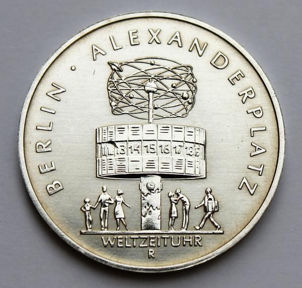 5-Mark-Stück 750 Jahre Berlin: Alexanderplatz (Weltzeituhr)
