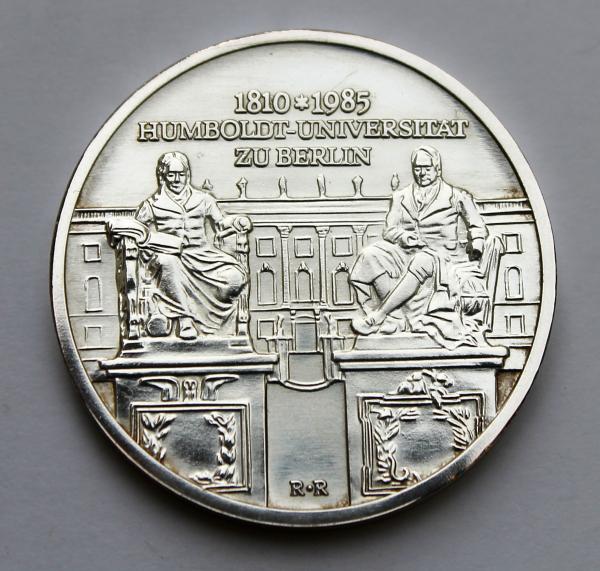 10-Mark-Stück auf 175 Jahre Humboldt-Universität Berlin
