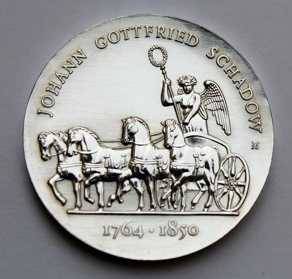 10-Mark-Stück auf den 225. Geburtstag von Johann Gottfried Schadow