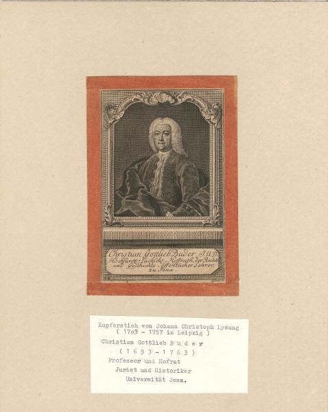 Porträt Christian Gottlieb Buder