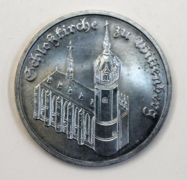 5-Mark-Stück Schlosskirche zu Wittenberg