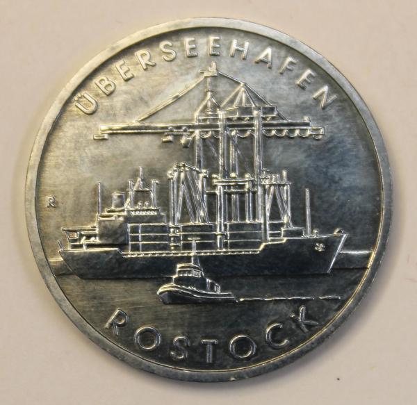 5-Mark-Stück anlässlich 30 Jahre Überseehafen Rostock