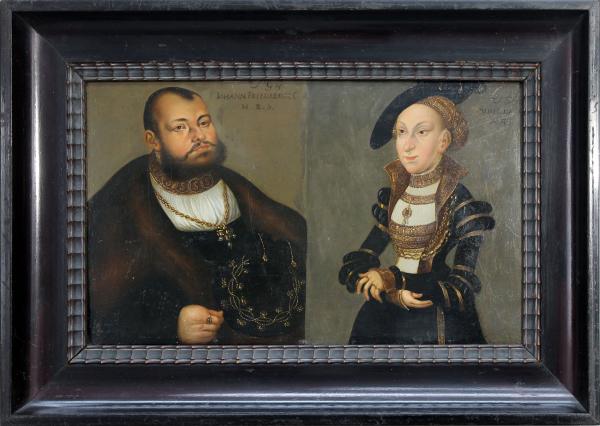 Doppelbildnis Johann Friedrich I. Kurfürst von Sachsen und Sibylle von Jülich-Cleve-Berg