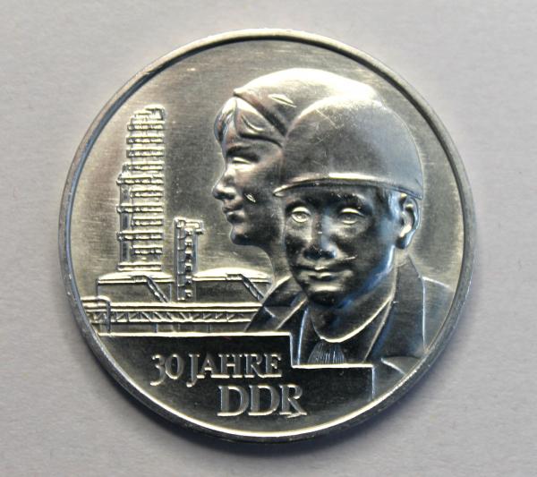 20-Mark-Stück anlässlich des 30. Jahrestages der Gründung der DDR