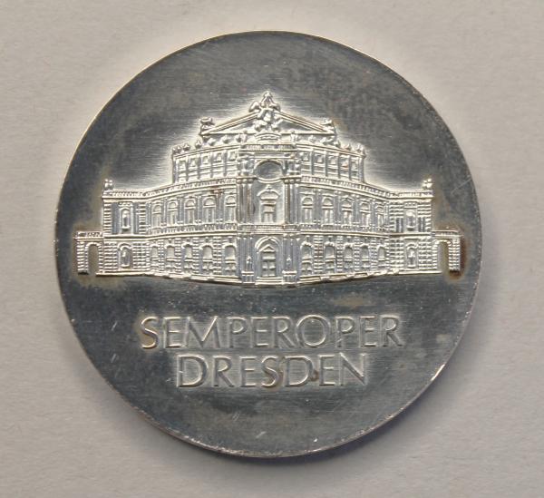 10-Mark-Stück anlässlich der Wiedereröffnung der Semperoper Dresden