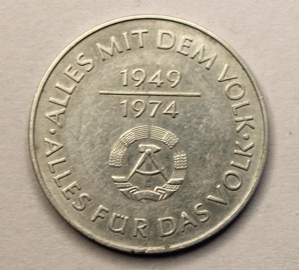 10-Mark-Stück 25 Jahre DDR - Alles mit dem Volk